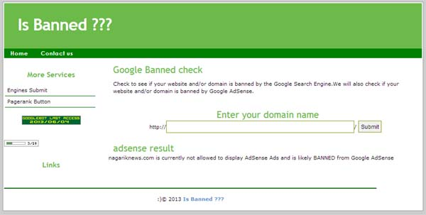 01 Know your website banned by google or not is banned