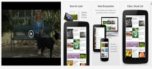 Apple and android app free_Free application to store online contents mobile, tablet and computers Pocket