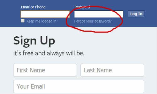 02 login facebook without mail id
