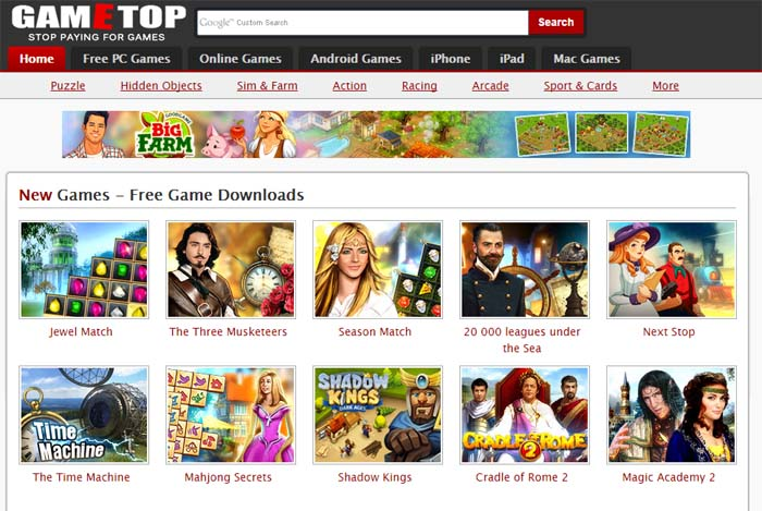 02 Gametop.com Free PC Games for Download Play Free Games