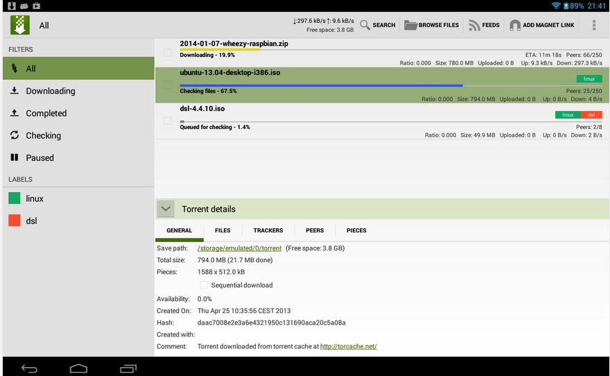 01 Torrent apps for smart phones tTorrent Lite