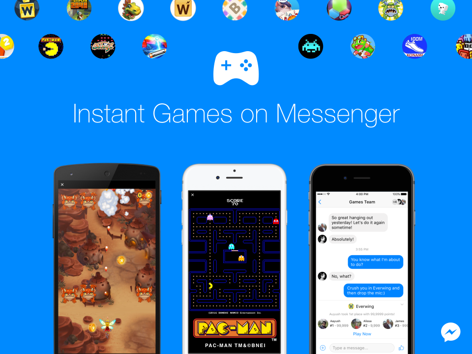 Play Pac-Man, space invaders and many more instant games on Messenger - Doorsanchar