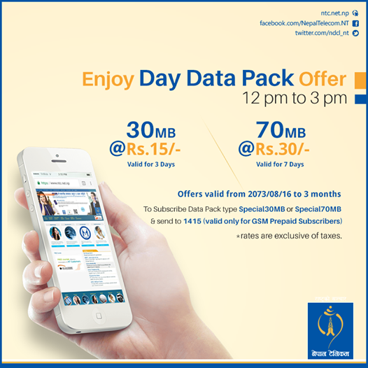 Nepal Telecom launches day data packs - Doorsanchar