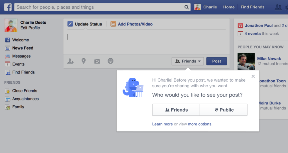 "Facebook changes Default Setting Of New Users' Posts To ""Friends"" - Doorsanchar"