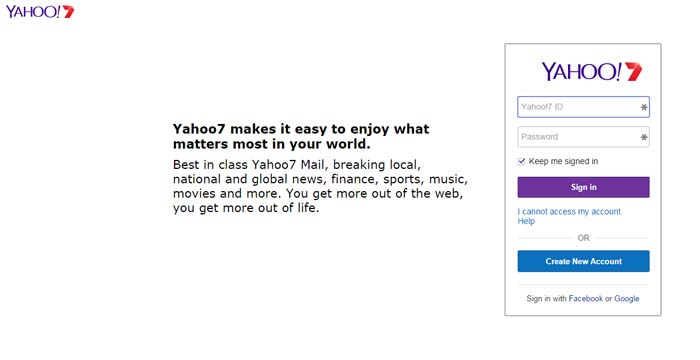07 Yahoo free email service