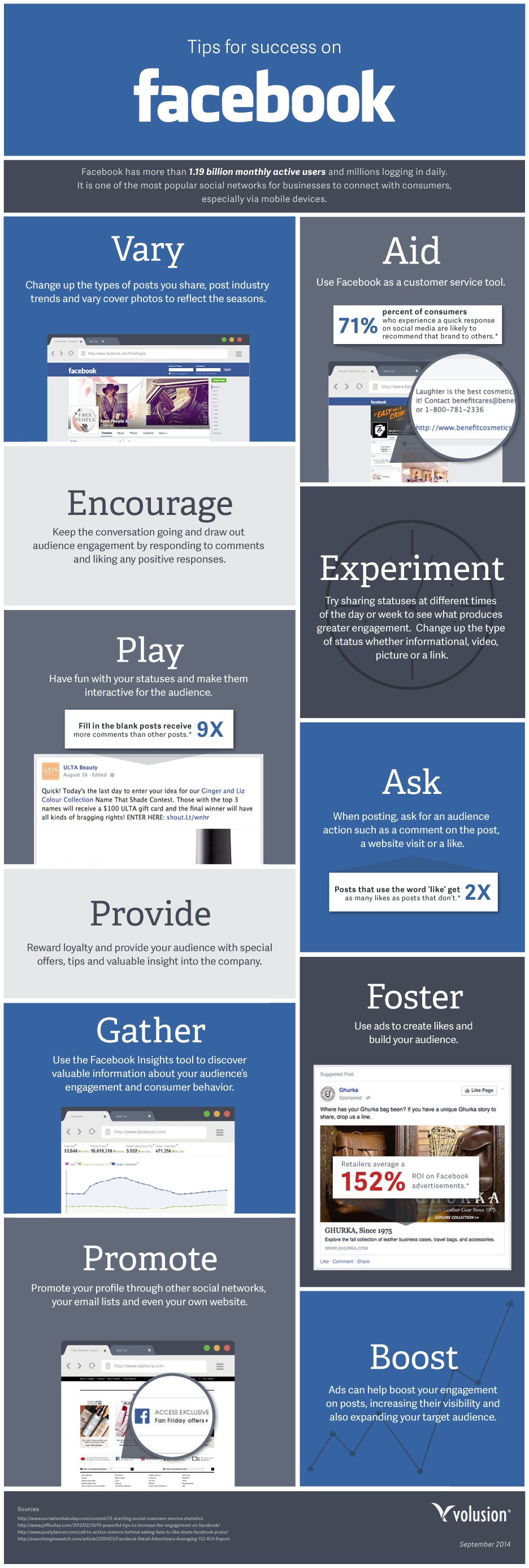 How to be successful in Facebook -Infographic
