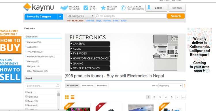03 Online Shopping in Nepal 5 best online shopping sites in Nepal Kaymu