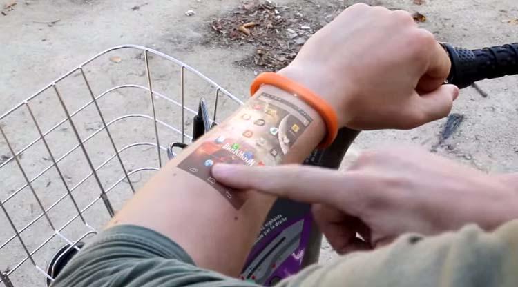 turn your arm smartphone display