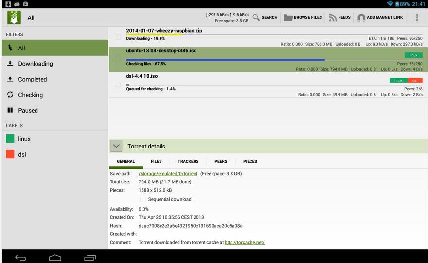 01 Torrent apps for smart phones tTorrent Lite