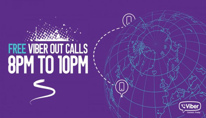 Viber offers free viber out calls from 8 to 10 pm - Doorsanchar
