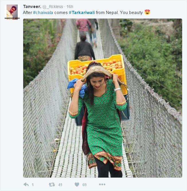 Nepali Tarkariwali going viral over internet - Doorsanchar