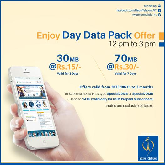 Nepal Telecom launches day data packs - Doorsanchar
